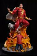 Custom Shazam Statue Sculpture Art / Nt Xm Sideshow Prime 1 Dc Comics 1 Of 40