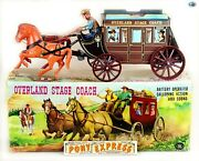 Vintage Large Japan Andldquomodern Toysandrdquo Overland Stage Coach Working Battery Operated