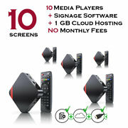 10 X Digital Signage Players With Free Signage Software For Fast Food Restaurant