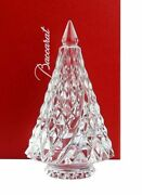 Baccarat Crystal Clear Diamant Fir Christmas Tree New With Red Box Set