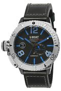 Watch Man U-boat Sommerso 9014 Leather Black
