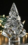 Baccarat Crystal Noel Noel Megeve Fir Clear Christmas Tree New With Red Box Set