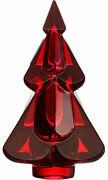 Baccarat Crystal Noel Snowy Christmas Tree - Red New With Red Box Set