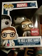 Funko Marvel Collector Corps Exclusive The Hulk And Bruce Banner 284 Pop