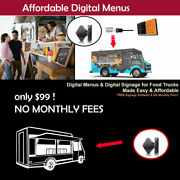Digital Signage And Digital Menu Boards For Food Trucks And Concession Stand