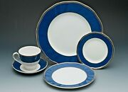 Crown Sapphire Fine Bone China By Wedgewood England 5 Piece Place Setting