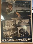 Every Mother's Son Is Counting On You Original Vintage Poster World War 2 1970s