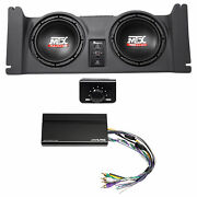 2 10 Mtx Subwoofers+box+alpine Amp For 4 Speakers For 97-06 Jeep Wrangler Tj