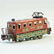 Bandai Tinplate Friction Train Universal Electric Line Made In Japan F/shipping