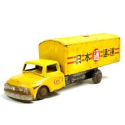 Nomura Toy Tinplate Friction Moving Truck Nippon Express 25 Cm Made In Japan F/s