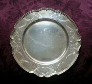 Sterling Silver Old Reed And Barton Round Tray