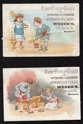 Lot/21800and039s Baltimore Mdweberand039sfine Fancy Goodschristmas And Birthday Cards
