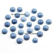 Lot Of 12x12 Mm Round Cabochon- Natural Owyhee Blue Opal Loose Gemstone