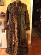 Yak Fur Coat Ladies Bison Buffalo M Excellent Early Rare Hippie Folk Art Antique