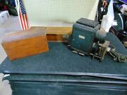 Vintage Bausch And Lomb Balopticon Projector With 120 Religious Glass Slides