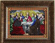 The Last Supper Greek Icon Saints Embroidered Beads Picture Religious Gift