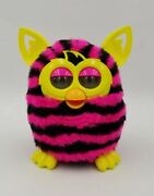 Vtg 2012 Interactive Pink And Black Stripes Tested And Works Furby Boom  19