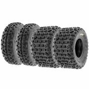 Set Of 4 20x6-10 And 18x10-8 Replacement Atv Utv 6 Ply Tires A035 By Sunf