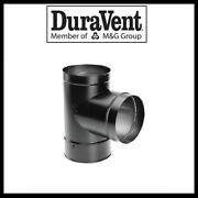 Duravent Durablack- 6 Tee With Clean-out Cap 6dbk-t