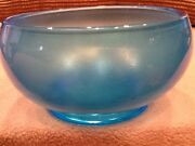 Fenton Glass Co Irrodescent Blue Stretch Glass Bowl 4-1/4 In T Vintage