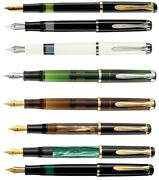 Pelikan Plunger Fountain Pen Many Model And 3 Thick Nibs Optional