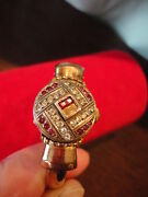 Nivada Vintage Ladies Watch 21 Jewel Diamond And Ruby Hidden Face 1950and039s
