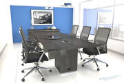 12 Ft Foot Modern Conference Table With Power And Usb Gray Or White Or Espresso