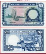 Com Gambia Currency Board - 5 Pounds Nd 1965/70 - Prefix A - P 3 - Unc Perfect