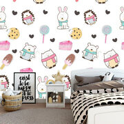 Cute Animals Wallpaper For Kids Room Peel And Stick Removable Wallpaper Art Km87