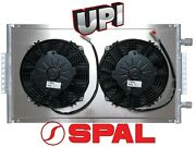 Remote Mount Parallel Flow A/c Condenser W Dual 8 Spal Pusher Fans And Shroud