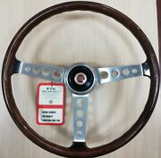 Authentic Classic Nos Secura Fiv Wooden Steering Wheel Fiat 850 Coupe And Others