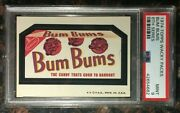 1974 Topps Wacky Packages Bum Bums 6th Series Psa 9 Mint Non-sport Card