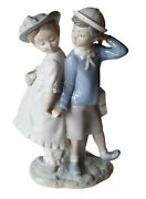 Lladro Porcelain Puppy Love Adorable Kids No.1127 Collectible Figurines New