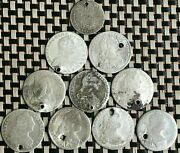 Lot Of 10 Austrian Silver Coins 6 And 7 Kreuzer Different Years And Imperators