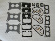 Holley/ford Carb Rebuild Kit For 3 X 2 Three Kits