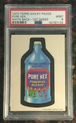 1973 Topps Wacky Packages Pure Hex 1st Series White Back Psa 9 Mint Card