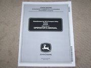 John Deere Used 46 Snowthrower For 2210 Compact Tractor Operators Manual A1