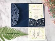Invitations Cards For Wedding Favors 50 Pcs/lot Laser Cut Pearl Paper Supply New
