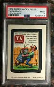 1974 Topps Wacky Packages Tv Garbage 11th Series Psa 9 Mint Non-sport Card