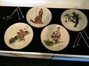 Four Seasons Series 1948 Norman Rockwell Plates