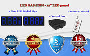 2 X 12 Blue Led Gas Price Changer Panel - Digital Signs 5 Years Warranty