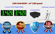 2 X 16 Green Led Gas Price Changer Panel - Digital Signs 5 Years Warranty