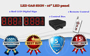 2 X 16 Red Led Gas Price Changer Panel - Digital Signs 5 Years Warranty