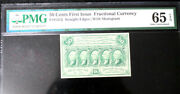 1862-63 50 Cents Fractional Currency Fr-1312 Pmg 65 Epq Gem Uncirculated
