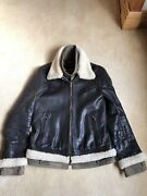 Dolce And Gabbana Black Leather Jacket Rrp Andpound5000