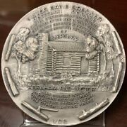 Rare .999 Silver Medal Victor David Brenner And By The Metal Art Co. Inc 6.6 Oz