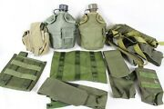 Vintage Tactical Gear Bag Lot Collection Green U.s. Army Canteen Knife Case