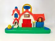 Fisher Price Vintage 1987 Barn Take Along Animal Toy Noise Carry