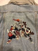 Acme Looney Tunes Space Jam 23 All Star Boys Large L Jacket Jean Hoodie Clout