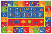 Kids Bedroom Rug Alphabet Abc Area Children Classroom Learning Accent Play New